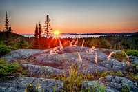 Sunset Off The Southern Headland Trail, Pukaskwa National Park