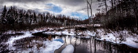 Winter Stream panorama